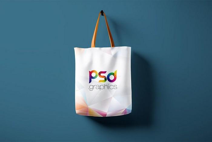 Hanging Tote Bag Mockup PSD