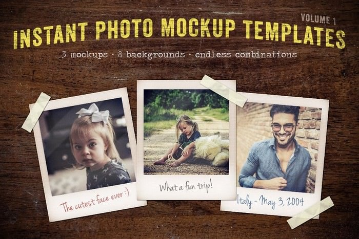 Instant Photo Mockup Templates Vol 1
