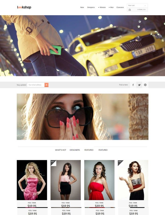Look Shop Free Website Template