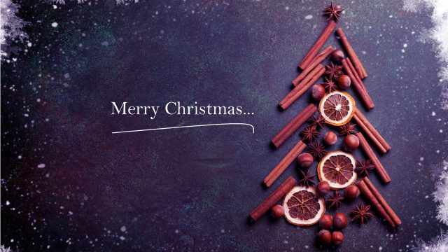 Merry Christmas Cinnamon Tree HD PC Background-3840 × 2160