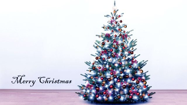 HD Wallpaper of Merry Christmas Decorative Tree-3840 × 2160