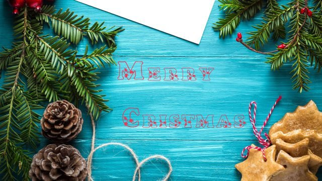 Merry Cristmas Desk Decoration Desktop Background-3840 × 2160