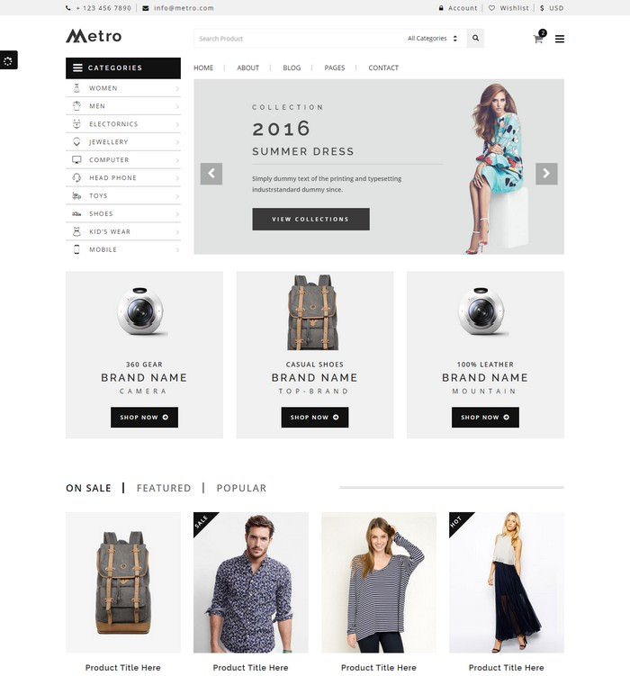 Metro E-Commerce HTML5 Template