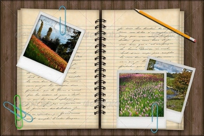 Notebook Photo Template Background
