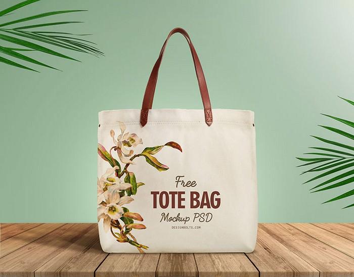 Organic Cotton Tote Shopping Bag Mockup