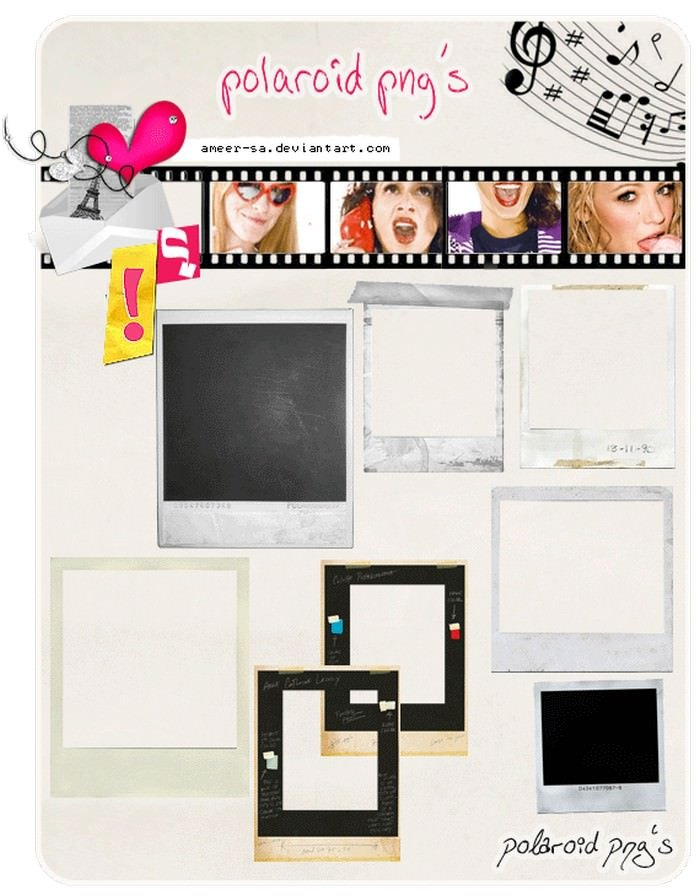 Polaroid PNG's