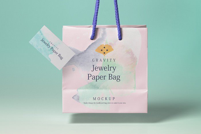 Psd Gravity Shopping Bag Mockup 3