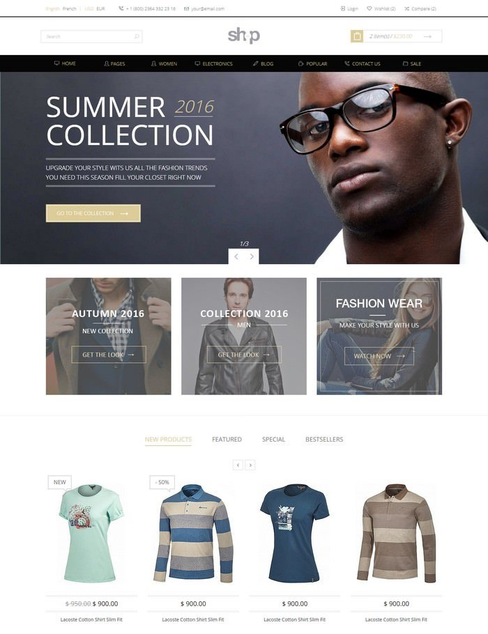 Shop e-Commerce HTML Template