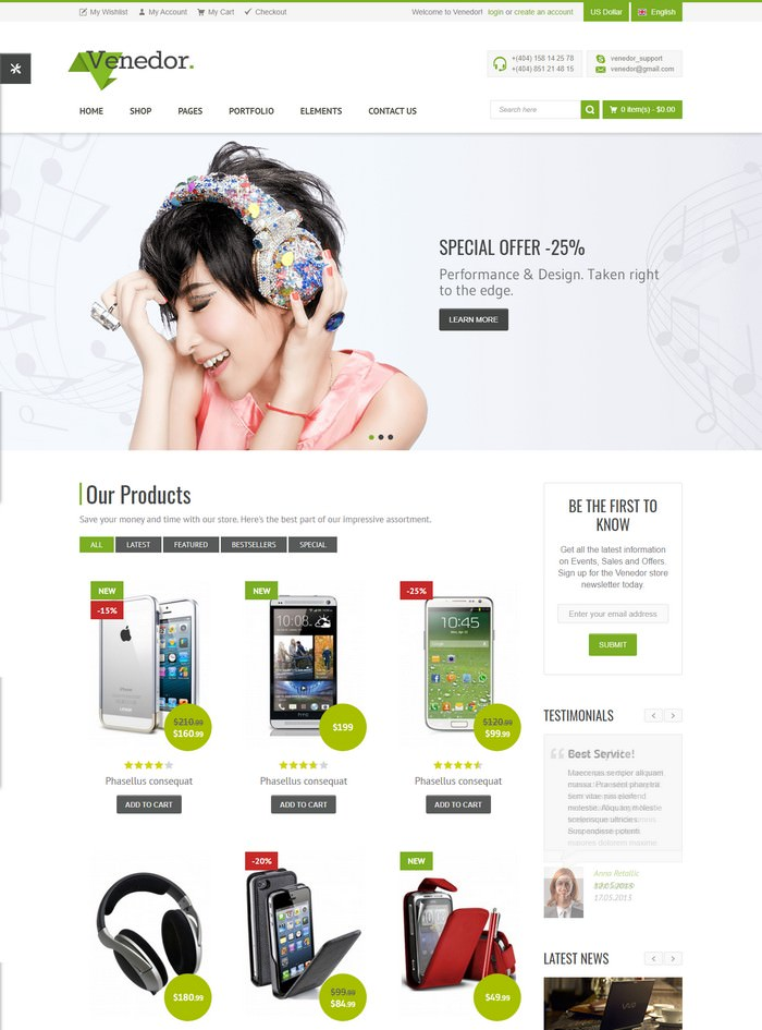 Venedor - Premium Bootstrap Ecommerce HTML5 Template
