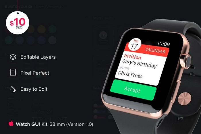 iWatch GUI kit