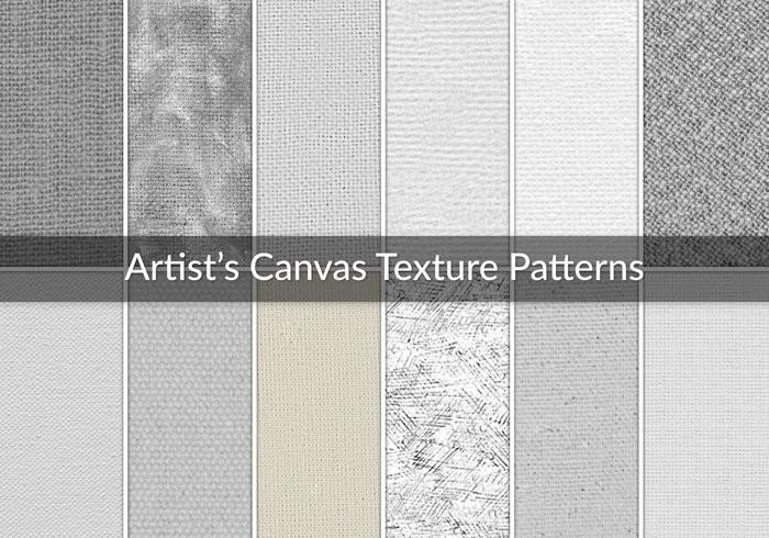 Artist's Canvas Texture Patterns