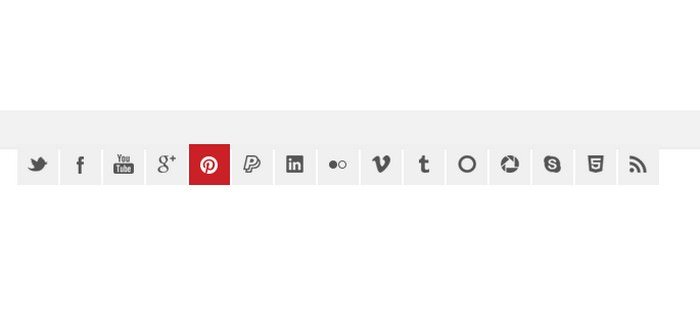 15 Social Media Icons including .CSS Slide Effect