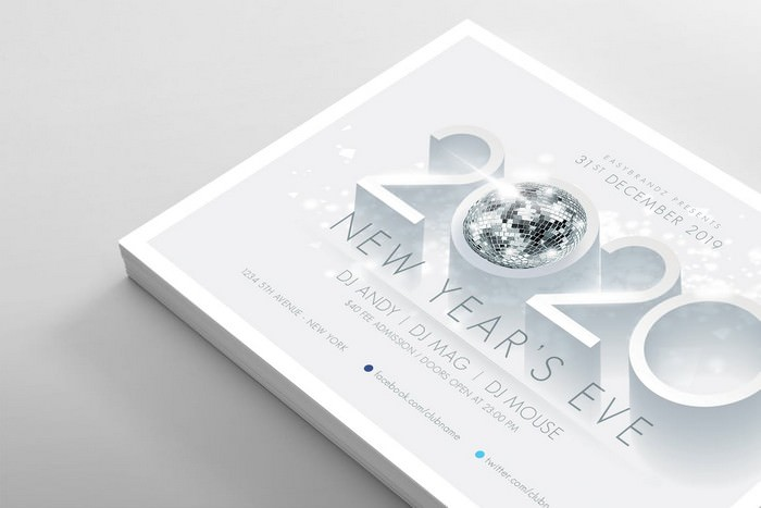 2020 New Years Flyer Template