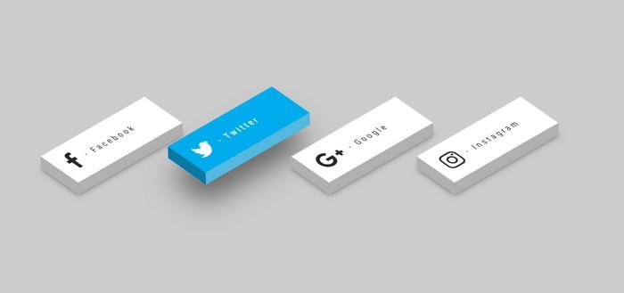 3D - CSS Social Tiles