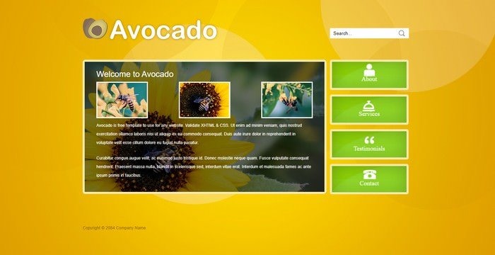 Avocado Dreamweaver Template