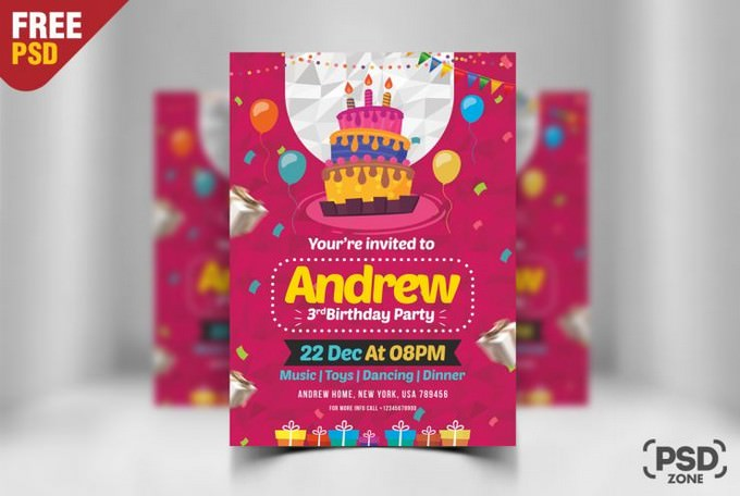 27 Best Birthday Card Psd Templates 2020 Templatefor