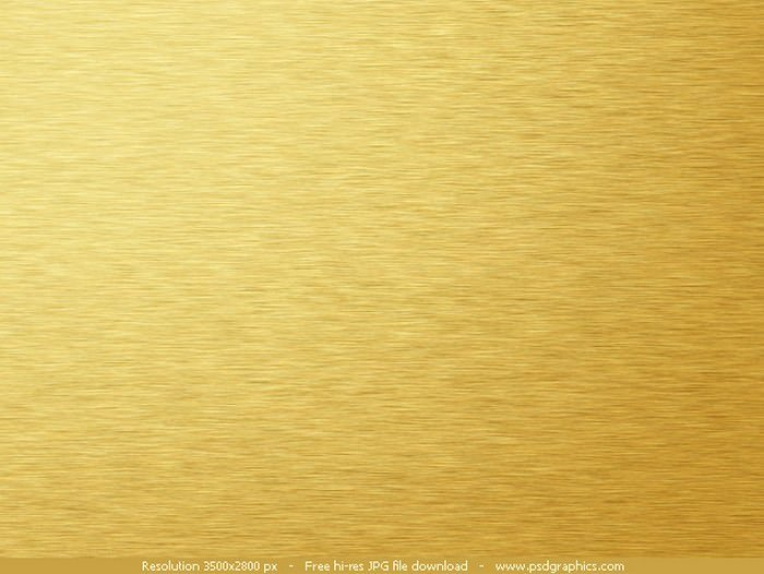 Brushed Gold Metal Background