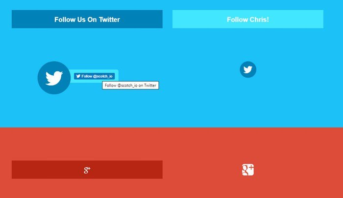 CSS3 Hidden Social Buttons