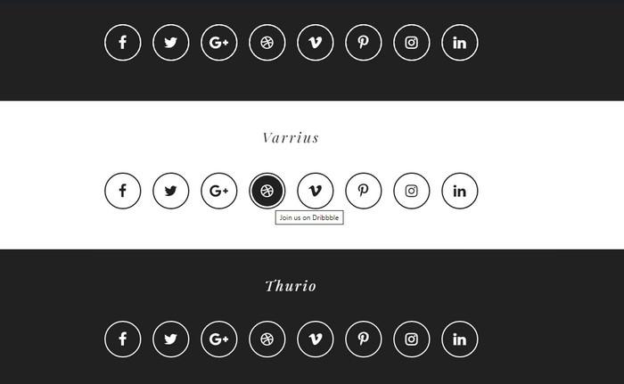 CSS3 Social buttons vol.2