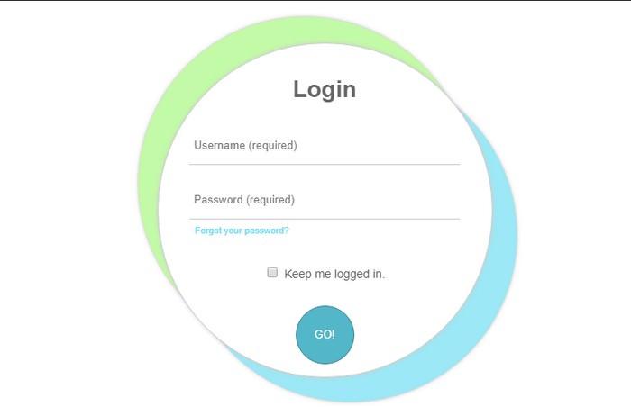 Circular Login Form