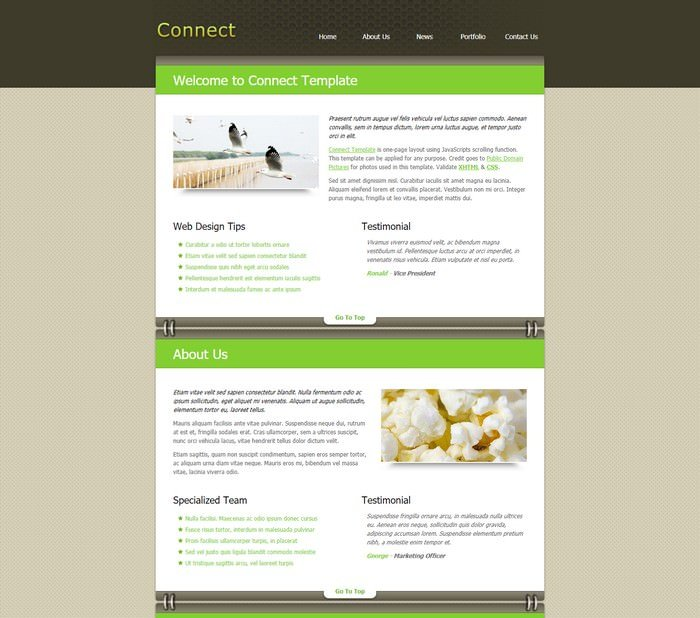 Connect Dreamweaver Template