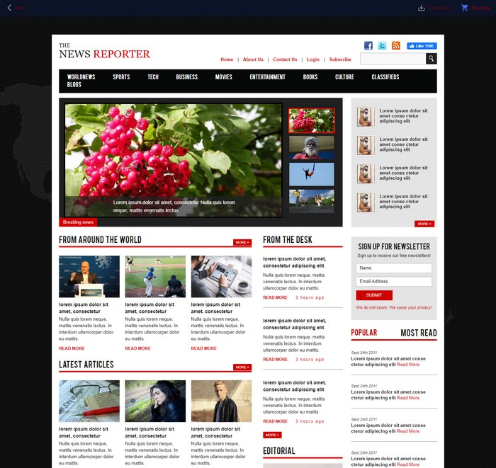 Entertainment Category Flat Bootstrap Responsive Web Template