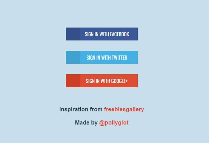 Flat Social Buttons in CSS3