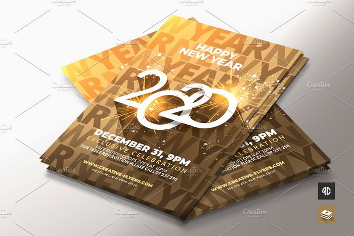Gold New Year Flyer