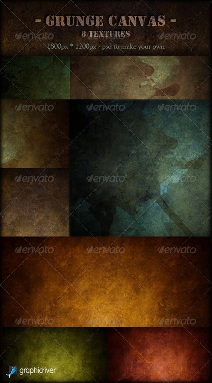 Grunge Canvas 8 Textures