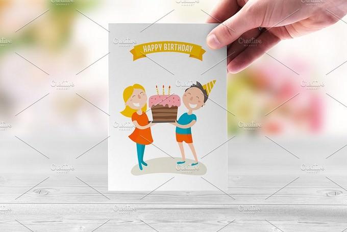 Happy Birthday! Flat illustration