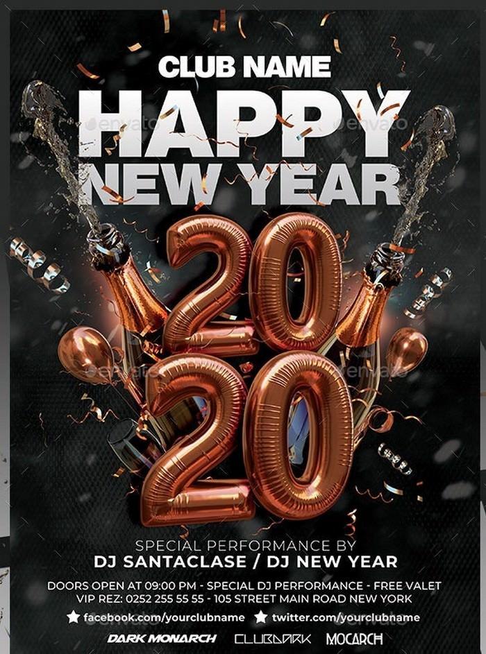 Happy New Year 2020 Flyer