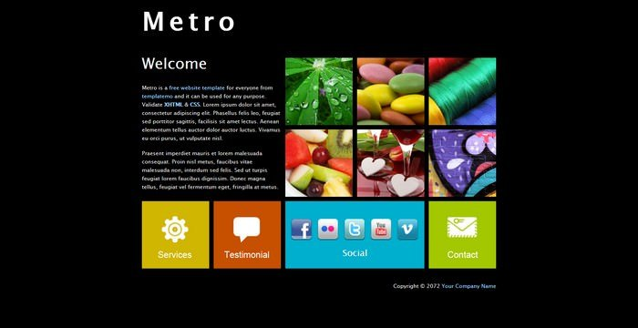 Metro Dreamweaver Template