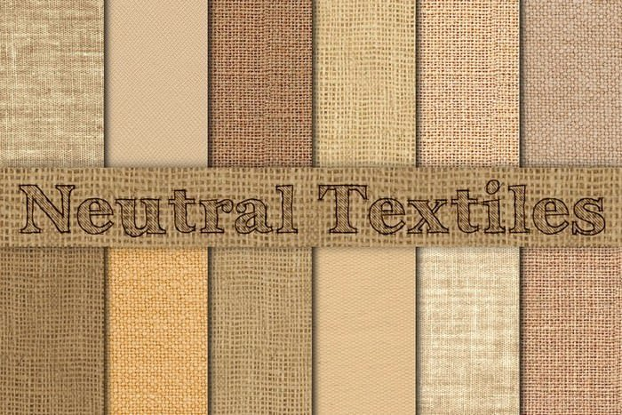 Neutral Burlap, Linen & Canvas