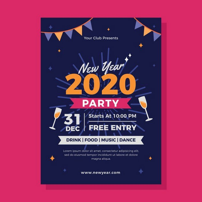 New Year 2020 Party Flyer