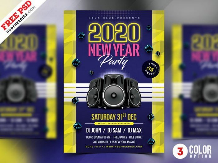 New Year Celebration Party Flyer Design