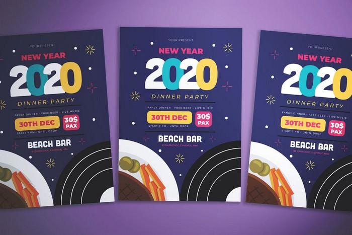 New Year Dinner Flyer