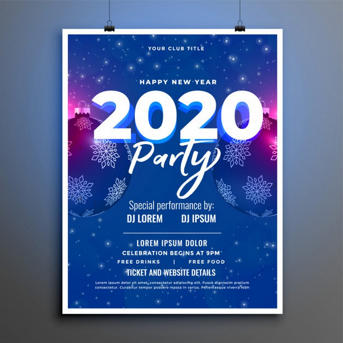 Party Celebration New Year Flyer Poster