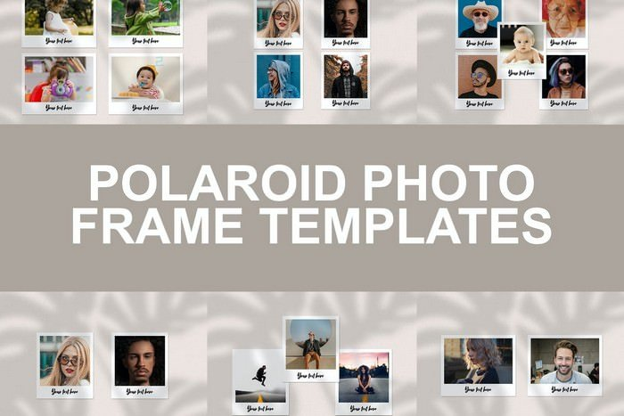 Polaroid Photo Frame Templates