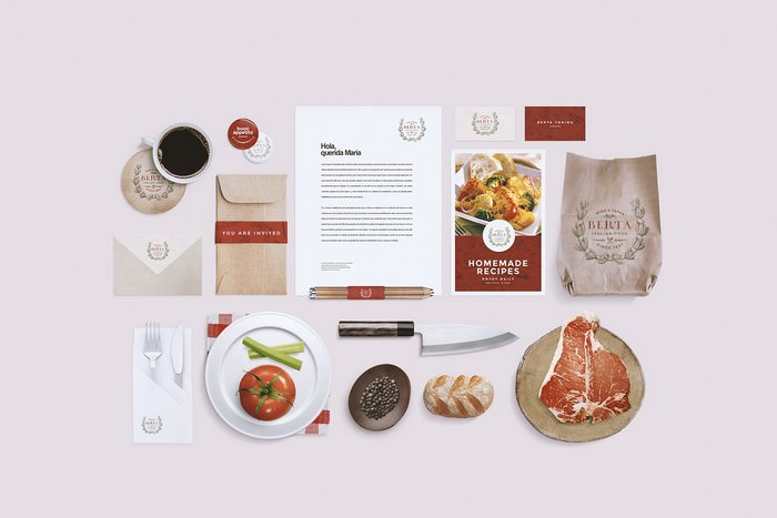 Restaurant Food Identity Mockup