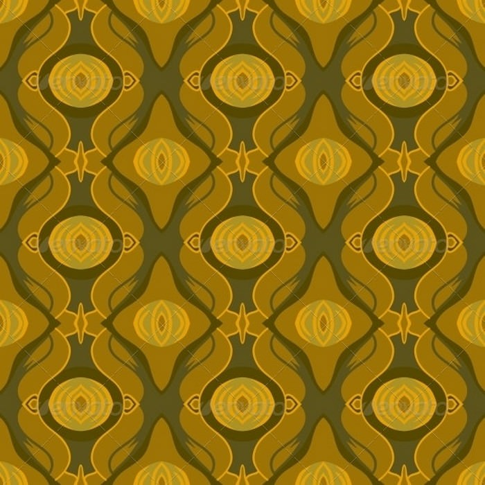 Seamless Arabic Pattern in Shades of Old Gold