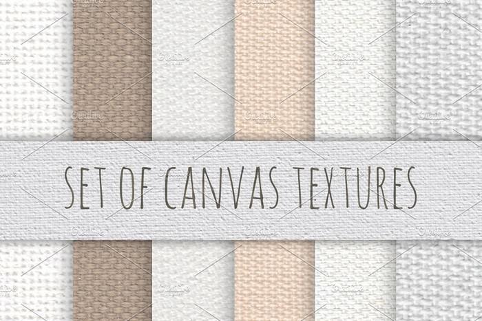 Set of Canvas Textures (Seamless)
