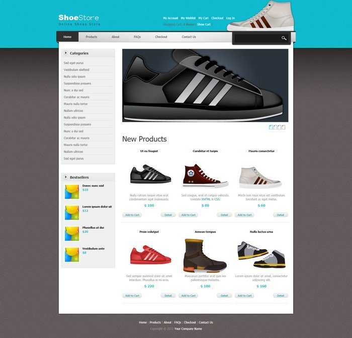 Shoes Dreamweaver Template