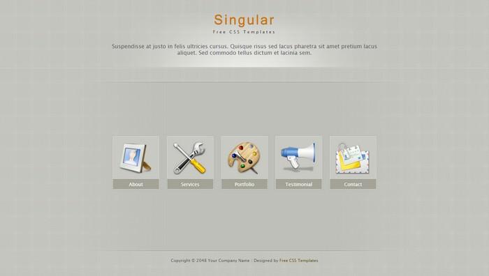 Singular Dreamweaver Template