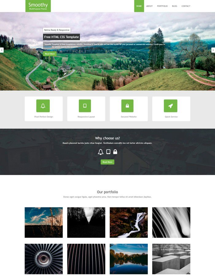 Smoothy Dreamweaver Template
