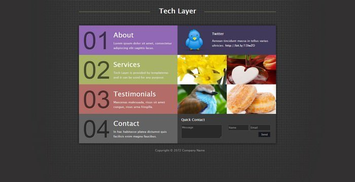 Tech LayerDreamweaver Template