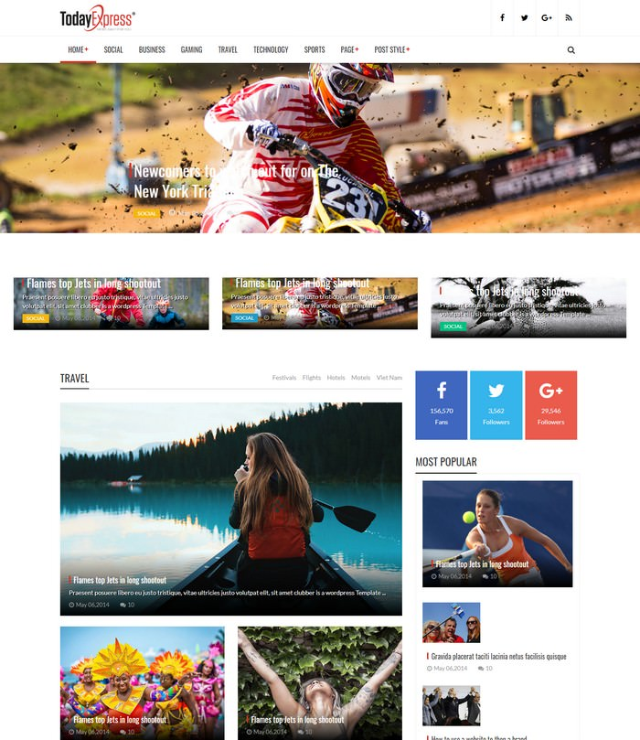 TodayExpress - Magazine HTML Template