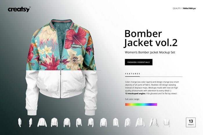Women's Bomber Jacket Mockup