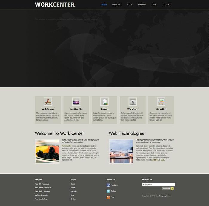 Work Center Dreamweaver Template