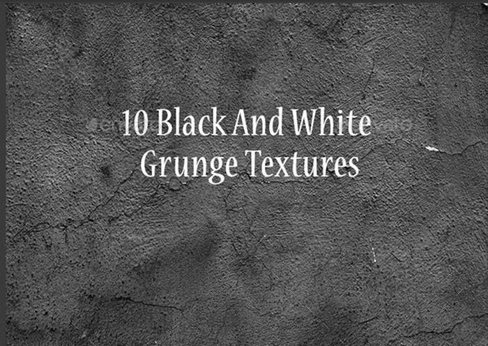 10 Black And White Grunge Textures