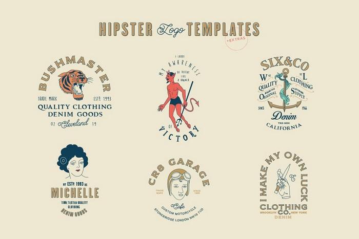 Hipster Logo Templates